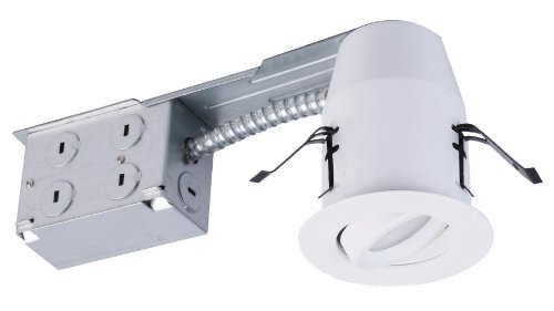 American Lighting Ep3S-Re-30-Wh Samsung Led E-Pro Series Recessed Downlights, Dimmable, Gu24 Base Adaptor Included, Swivel, 3-Inch, White