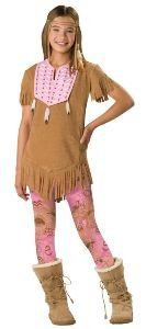Native American Sassy Squaw Child Costume Size 10-12 Medium
