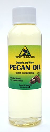 Pecan Oil Refined Organic Carrier Cold Pressed Premium 100% Pure 2 oz