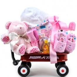 Baby girl radio flyer wagon gift basket christmas and new year baby girl radio flyer wagon gift basket negle Gallery