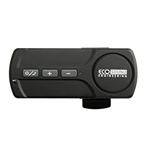 ECO Sound Engineering ECO-V400-11922 V400 Wireless Bluetooth Portable Visor Car Kit with Optimized Sound Quality - Retail Packaging - Black