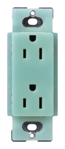 Lutron Scr-15-Sg Satin Colors 15A Electrical Socket Duplex Receptacle, Sea Glass