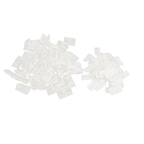 50 set 90 grad wei kunststoff m bel schrank eckverbinder for Schiebefenster kunststoff