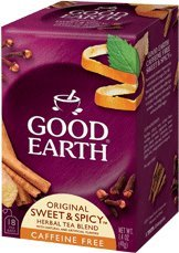 Good Earth Original Sweet And Spicy Herbal Tea Caffeine Free - 25 Tea Bags Pack Of 2 from Good Earth