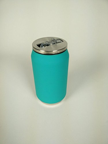 Yoko Design 1294 Canette Isotherme Inox Turquoise Rubber Soft 13 cm