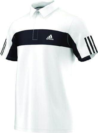 Buy Adidas Mens Tennis Galaxy Polo (White Black) - Large by adidas