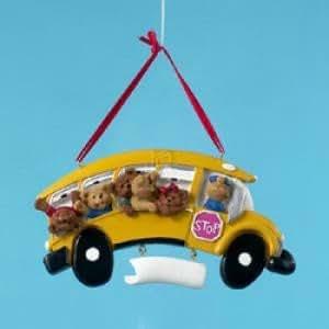 Resin School Bus Ornament