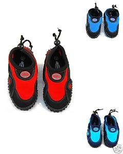 Blue Rush Boys Beach Wetsuit Aqua Shoes