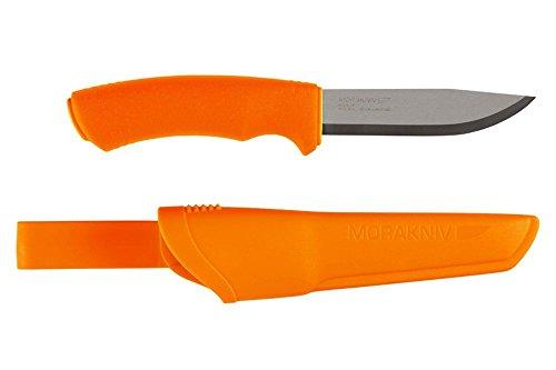 Mora Bushcraft Fixed Blade Knife, Orange, 4.3in. Blade