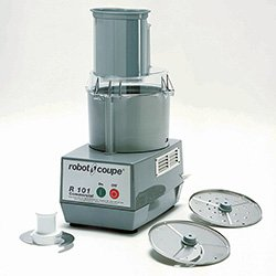 Robot Coupe R101 Commercial Food Processor - 2-1/2 Qt. Cutter Bowl, Gray