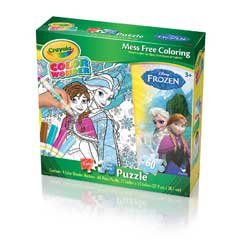 Frozen Crayola Color Wonder 60 pc Puzzle with 4 Markers