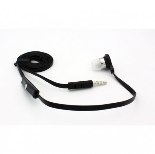 Flat Cable Black Handsfree Mono Headset Single In-Ear Earphone Earbud Microphone For At&T Samsung Galaxy S4 Zoom Sm-C105A, At&T Samsung Galaxy I7500, At&T Samsung Captivate I897, At&T Samsung Focus I917