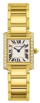 Cartier Tank Francaise 18kt Yellow Gold Diamond Ladies Watch WE1001R8
