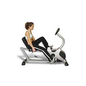 Yukon Fitness - EZR 02 - Recumbent Exercise Bike Professional Home Exercise Machine - Black & Silver -