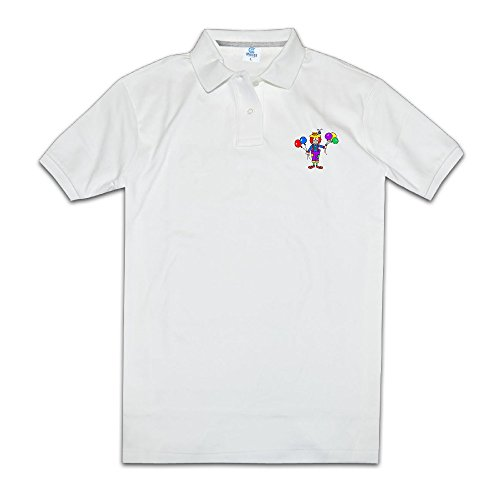 Men Clown With Colorful Balloon Commemorative Edition Printed Polo Shirts