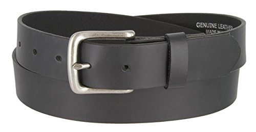 Mens Solid Piece Genuine Leather Casual Dress Belt Made In USA (Black,32) (Solid Leather Belt compare prices)