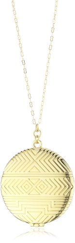 House of Harlow 1960 14k Yellow Gold-Plated Medallion Pendant Necklace