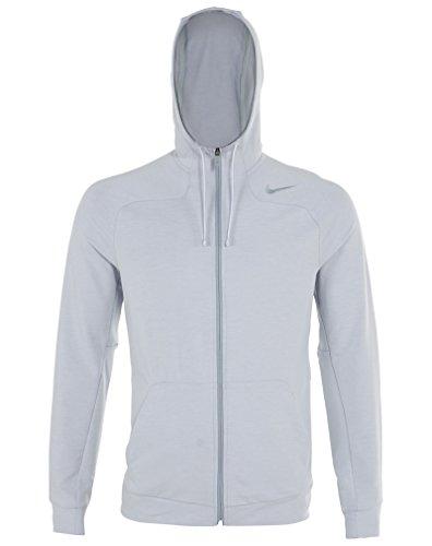 Nike Men's Dri-FIT Touch Fleece Full-Zip Training Hoodie, Tumbled Gray, Medium