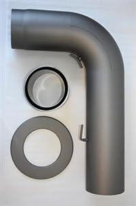 Rauchrohr Kaminrohrset glatt ø 150 gußgrau # 288 700x450 2mm   Kundenbewertung und Beschreibung
