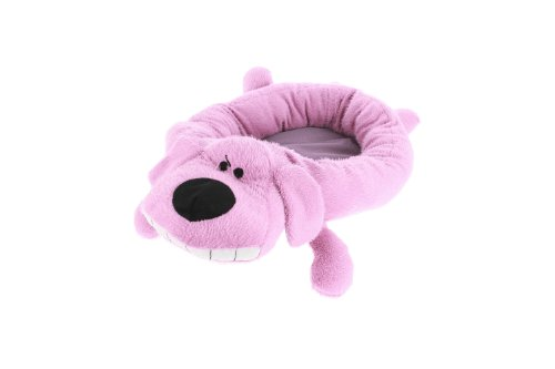 Multipet's 24-Inch Round Loofa Dog Bed, Magenta