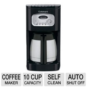 Cuisinart 10 Cup Thermal Programmable Coffeemaker with 1- to 4-Cup Setting, Brew Pause Function, and 60-Second Reset, Self Clean Functionality, Double-Wall Insulated Thermal Carafe Included (Cuisinart Carafe Insulated compare prices)