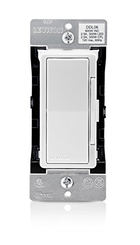 Leviton DDL06-BLZ Decora Digital 300W LED/CFL, 600W Incandescent Dimmer & Timer with Bluetooth Technology