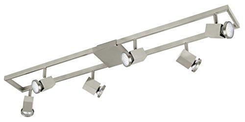 Deckenleuchte Modell Zeraco / 6 Gu10-Led, nickel matt 93679 E