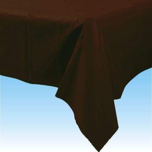 137cm x 247cm nappe en plastique - Marron Chocolat - Fête