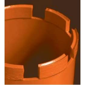 """Diteq D32221 Double-Pointed Segmented, Qlty. Level 5 - Hard Aggregate & Heavy Steel Core Bits 10"""""""