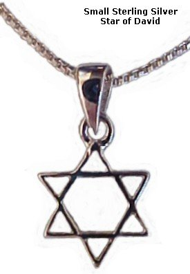 Small Star of David 925 Sterling Silver Necklace Women's Men's Spiritual Religious Holy Land Jewelry