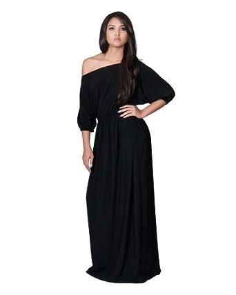 d30a100dbadc Koh Koh Women's One Shoulder Cocktail Evening Elegant Long Maxi Dress