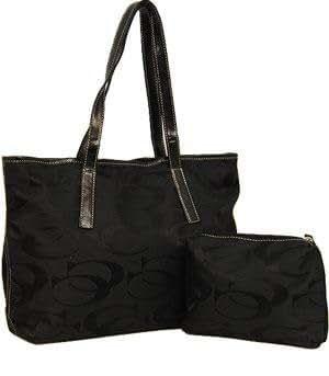 Signature Fashion Cleto Tote bag CC Handbag Purses-BLACK