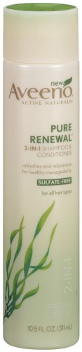 Aveeno Pure Renewal 2-in-1 Shampoo and Conditioner, 10.5 Ounce (Pack of 2)
