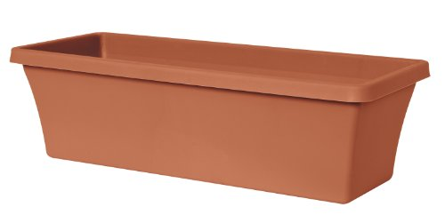 Fiskars 18 Inch TerraBox Planter, Color Clay (Resin Rectangular Planter compare prices)
