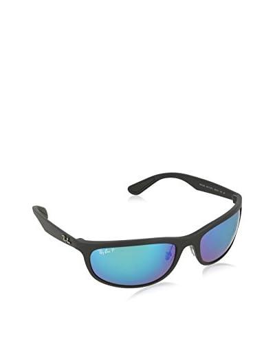 RAY BAN Sunglasses - MATTE BLACK WITH BLUEEPOLARFLASH LENS