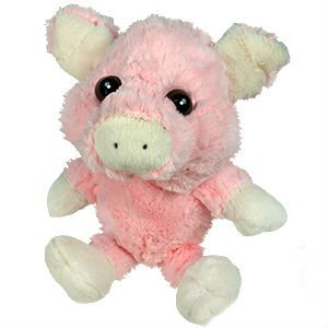plush pink white pig stuffed animal big eyed 9 inches sitting 15 inches head. Black Bedroom Furniture Sets. Home Design Ideas