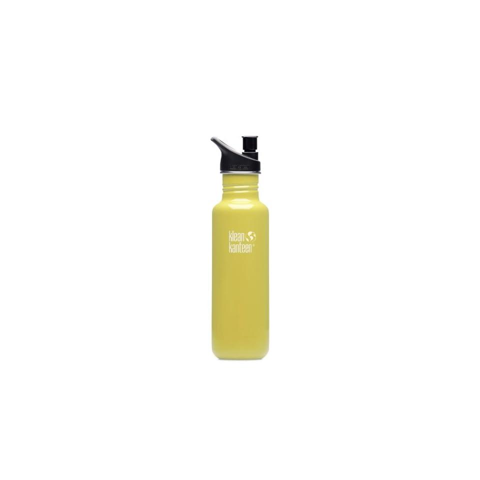 Klean Kanteen 27 oz Stainless Steel Water Bottle (Sport Cap 2.0)   Green Energy