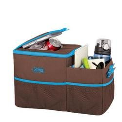 Thermos Trvl Insulated Cooler Bag Car Front Seat Organizer Brown/Blue front-935663