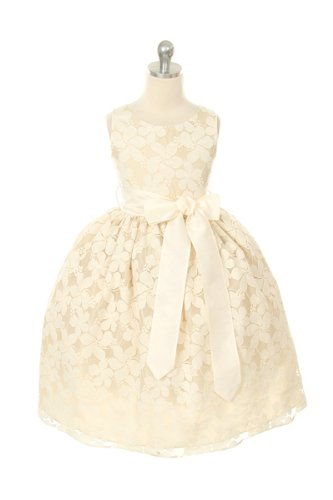 Flower Girl Special Occasion Lace Dress Ivory size 4 - 7