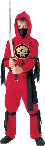Ninja Boy Outfit Kids Halloween Red Samurai Warrior
