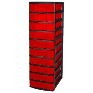tours de rangement dix tiroirs tour de rangement noir. Black Bedroom Furniture Sets. Home Design Ideas