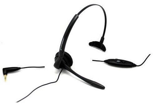 Plantronics Corded Headset Over Head Or Over Ear With Boom Mic 3.5Mm Universal Plug Plus 2.5Mm Adapter