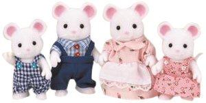 Epoch 3111 Sylvanian families - White mouse Family