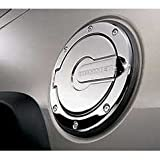 31D22HPCR6L. SL160  GM Hummer H2 Accessories   Chrome Billet Fuel Door 2003, 2004, 2005, 2006, 2007, 2008, 2009, 2010
