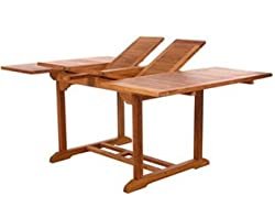 Indonesian Teak Extension Dining Table 75 Inch