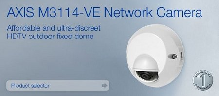 AXIS 0413-001 AXIS M3114-VE OUTDOOR READY HDTV NETWORK CAMERA