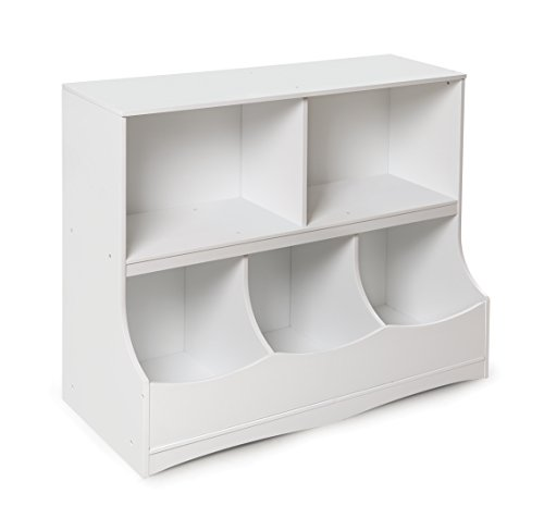 Badger Basket Multi-Bin Storage Cubby, White