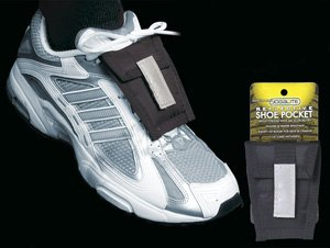 Jogalite Black reflective Shoe pocket