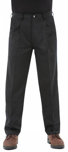 Wrangler Rugged Wear? Men's Casual Pant, Relaxed Fit - Teflon Coating, Black, 38W x 32L