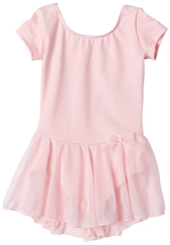 Capezio Girls 2-6x Children'S Short Sleeve Nylon Dress,Pink,I ( 6-8)